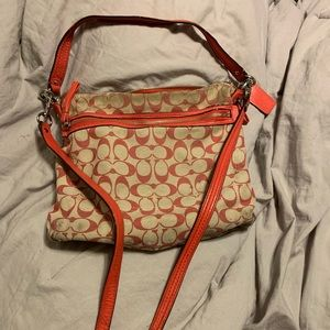 Coach cross body with removable long strap
